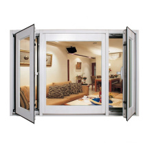 European residential high quality german hope fittings swing opening standard size of glass tempered glass window