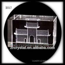 K9 3D Laser Tiananmen Square dentro de rectángulo de cristal