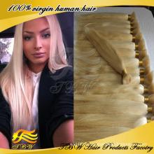 Cheveux vierges brésiliens pas cher 100 pour cent de cheveux humains blonds en vrac