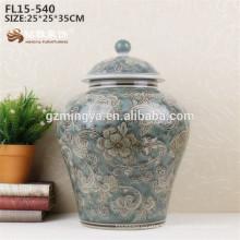 Ceramic vase Hot sale blue color porcelain flower design Vase wholesale for home decor