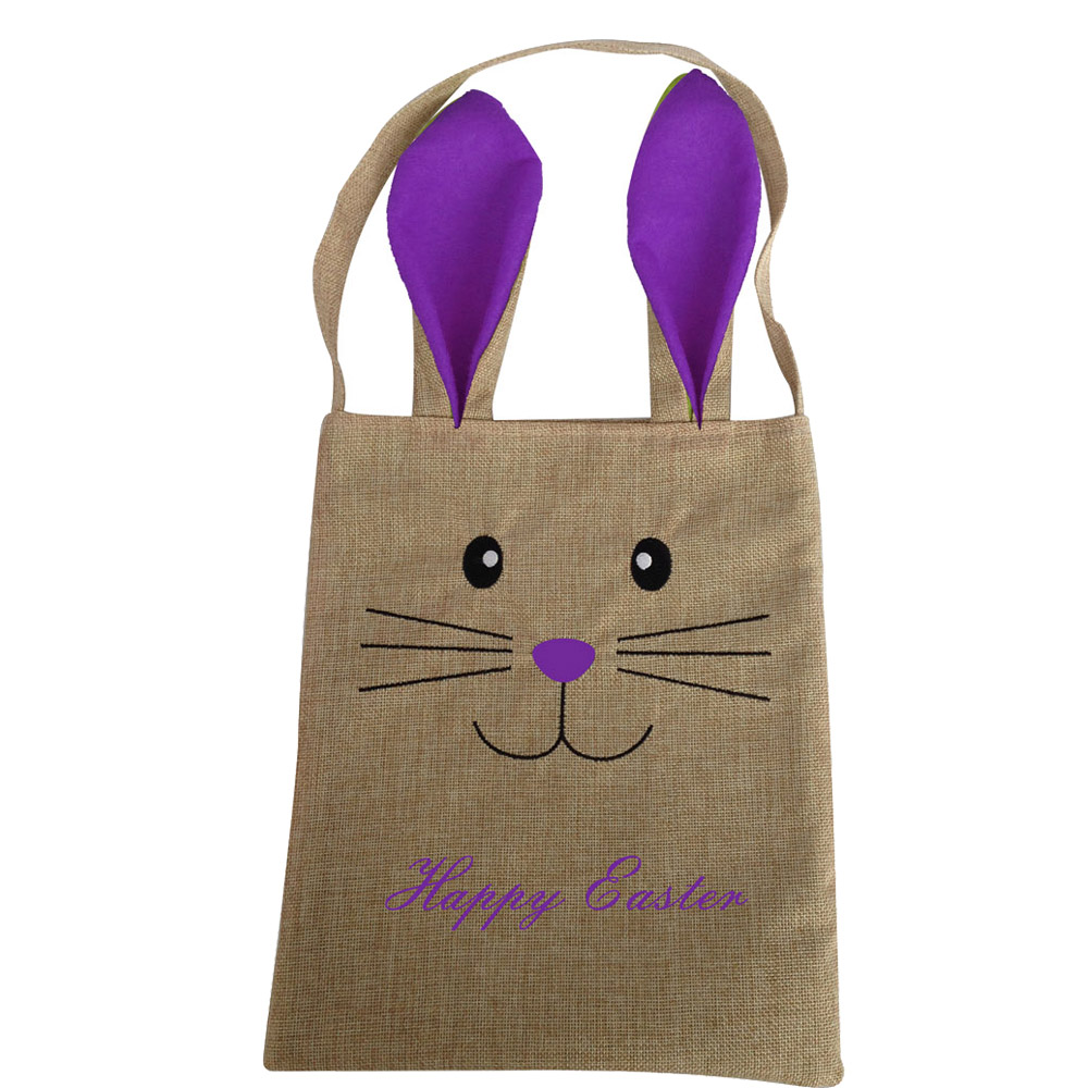 Burlap Easter Candy Bag