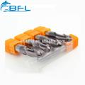 BFL Spiral Cutter Bit Carbide 4 Flutes BallNose EndMills Cutter NaNo Coated