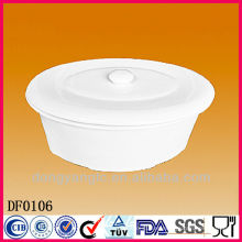 Sopera de sopa blanca de la porcelana blanca al por mayor directa de la fábrica