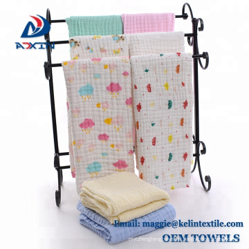 Chine Doublure molle d'emmaillotage de bébé de mousseline de coton de textile de conception faite sur commande d'usine d'usine