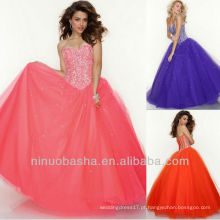 Pink Orange E Purple Sweetheart Organza Sweep Train Sequin Lace Up Back Quinceanera Vestido Dressing Sweet 16