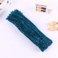 Factory sale 30cm DIY tinsel craft Pipe Cleaner diy chenille stem for kids