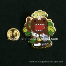 Imitation Enamel Lapel Pin Badges with Butterfly Clutch