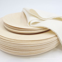 Disposable dinnerware bamboo round plate  wholesale with good price for wholesale