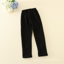 girls pants black long trousers with two bright flowers embroidery for baby girls for autumn