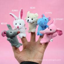 Juego de rol de los niños juego de animales juguete dedo títere
