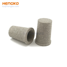 Customized size reusable power sintered stainless steel SS316 microporous water candle filters for Co2 dusting