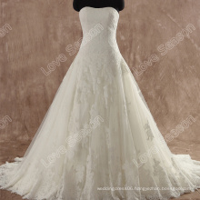 LS0111 Strapless lace up corset back lace wedding dress patterns real picture lace wedding dresses new model wedding dress