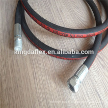China Manufacture Oil Resistant Wire Braided Rubber Hydraulic Hose SAE100R1AT/1SN Assembly
