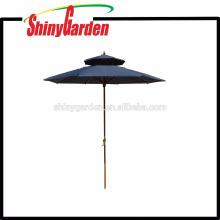 Luxus-Doppel-Roofs 2.4M Terrasse Patio Buche Sonnenschirm Single Color 150G Polyester