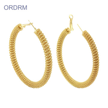 Billiga Cool Gold Extra Large Hoop Earrings