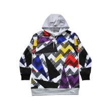 Deportes calientes usar sudadera con capucha de moda personalizada con patrón de colores (h5013)