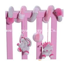 Fábrica de fornecimento de cama Kids Plush Spiral Toy