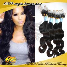 7A Grade 100% Unprocessed Mongolian Human Hair Micro Loop Hair Extension