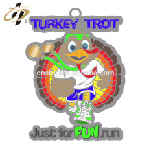 Médaille promotionnelle personnalisée en alliage de zinc argent Turquie
