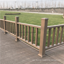 Factory Wholesale Landscape WPC Handrail Garden Handrail WPC Home Outdoor Composite Railing Set