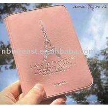 High quality pink pu&pvc passport holder, passport case, passport bag