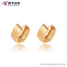 Brinco de argola de jóias banhado a ouro simples moda popular - 90856