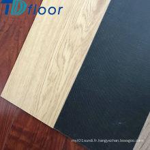Plancher populaire de vinyle de PVC de dos de colle vers le bas