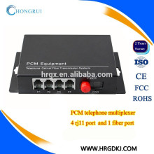 Convertisseur fibre optique 4 canaux vers rj11