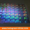 Invisible Fluorescent 3D Laser Sicherheit holographische Aufkleber