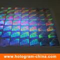 Anti-contrefaçon autocollant d'hologramme fluorescent invisible