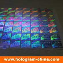 Etiqueta adhesiva impresa ULTRAVIOLETA del holograma de la tinta ULTRAVIOLETA
