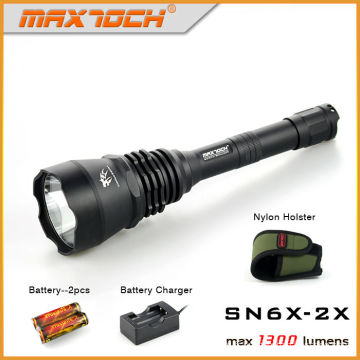Maxtoch SN6X-2 X lampe de poche 1300lm longue Distance éblouissement