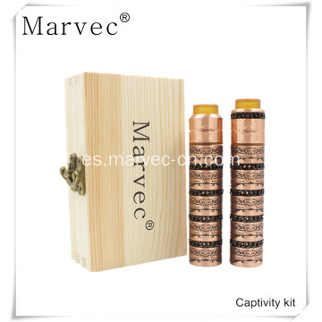 Kit de cigarrillos electrónicos Marvec Captivity copper material