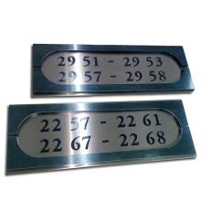 Número do quarto placa gravada para o hotel