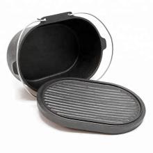 High Quality Oval Shape Cast Iron Dutch Oven