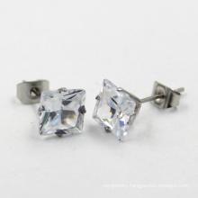Gift Stainless Steel Rhinestone Fashion Jewelry Earring