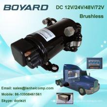 R134A boyard 12v 24v brushless dc air conditioner compresseur remplacez le compresseur matsushita pour le climatiseur de la cabine