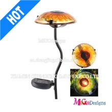 Luz solar decorativa da estaca de jardim do cogumelo do metal