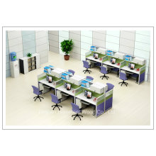 High Wall Furniture Wooden 2 Seater Office Workstation Small Cubicle (HF-YZV066)