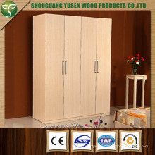 White Color Four Doors Wardrobe Used for Bedroom
