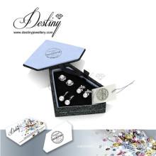 Schicksal Schmuck Mode Kristall von Swarovski Perle Ohrringe Set
