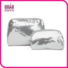 Victoria′s Secret Sparkling Sequin Cosmetic Bag Wristlet Makeup Case Clutch Purse