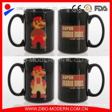 Wholesale Customized Logo Printing Black Ceramic Mug/Sublimation Mug for Promotion