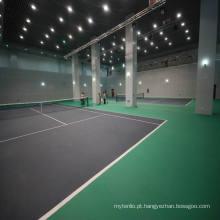 Pavimento em PVC de PVC interior para quadra de tênis