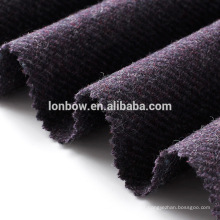 Estilo britânico roxo 100% lã twill tweed para cap