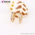 90189- Boucles d'oreilles Xuping Huggie Boucles d'oreilles plaqué or Fashion Fashion avec une bonne qualité