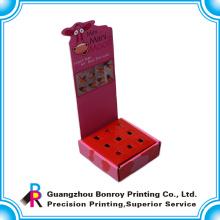 Heiß-Verkauf bunter Druckanzeige faltender kundenspezifischer Papierkasten für Förderung