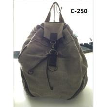 Guangzhou Proveedores Diseñador Sailcloth Canvas Backpack Bag (C-250)