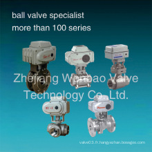 Valve à bille électrique en acier inoxydable CF8m 1000wog