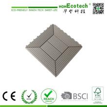 В WPC Проектированный настил Тип блокировки настил плитки